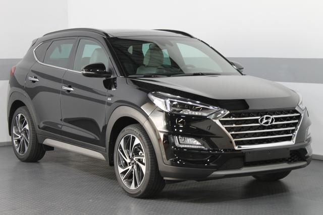 Hyundai Tucson - IMPRESSION 4WD AUT Mild Hybrid PANORAMA LEDER BSD ACC AEB NAVI KRELL SmartKey Lagerfahrzeug