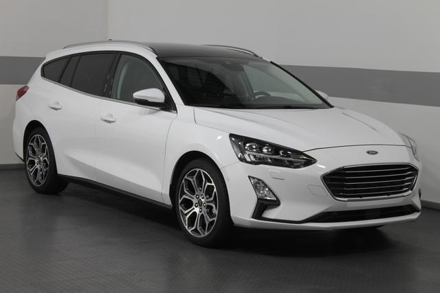 Ford Focus Turnier - TITANIUM PANORAMA LED KEYLESS SHZ ParkPilot RFK 18ALU El.Heckklappe Vorlauffahrzeug