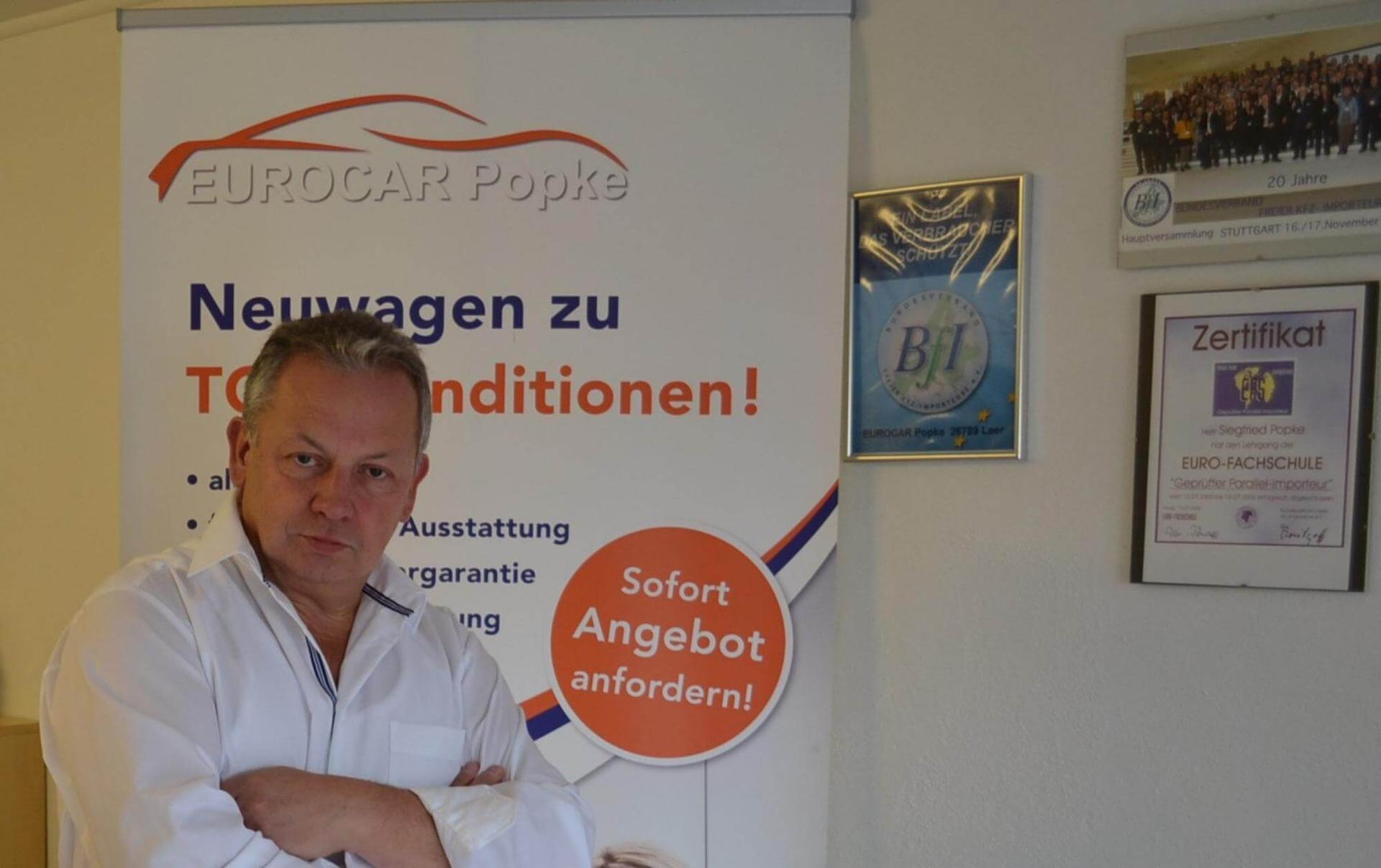 EU Neuwagen Spezialist EUROCAR Popke als Mitglied im Bundesverband freier Kfz-Importeure e.V. und als geprüfter Parallel-Importeur garantiert Ihnen eine faire und korrekte Kaufabwicklung.