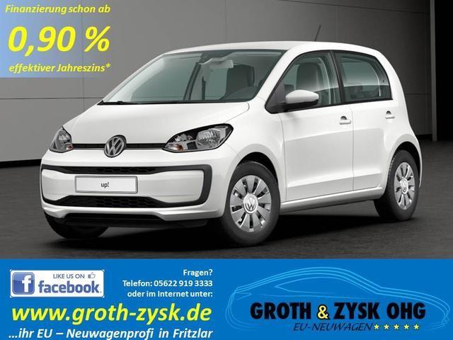 Volkswagen up! - SOFORT MOVE 55KW 5 Türen Cool & Sound Composition Phone BT Klima Lederlenkrad Notbremssystem Ersatzrad