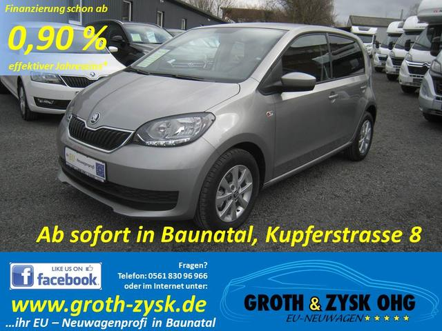 Skoda Citigo - SOFORT Ambition 1.0MPI - 44KW 5-Türer ALU SUNSET Radio Blues CD/MP3/SD/ AUX Ersatzrad