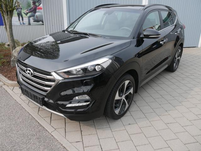 Hyundai Tucson - 2.0 CRDI DPF PREMIUM 4WD * AUTOMATIC AHK LEDER PANORAMA-SD RÜCKFAHRKAMERA