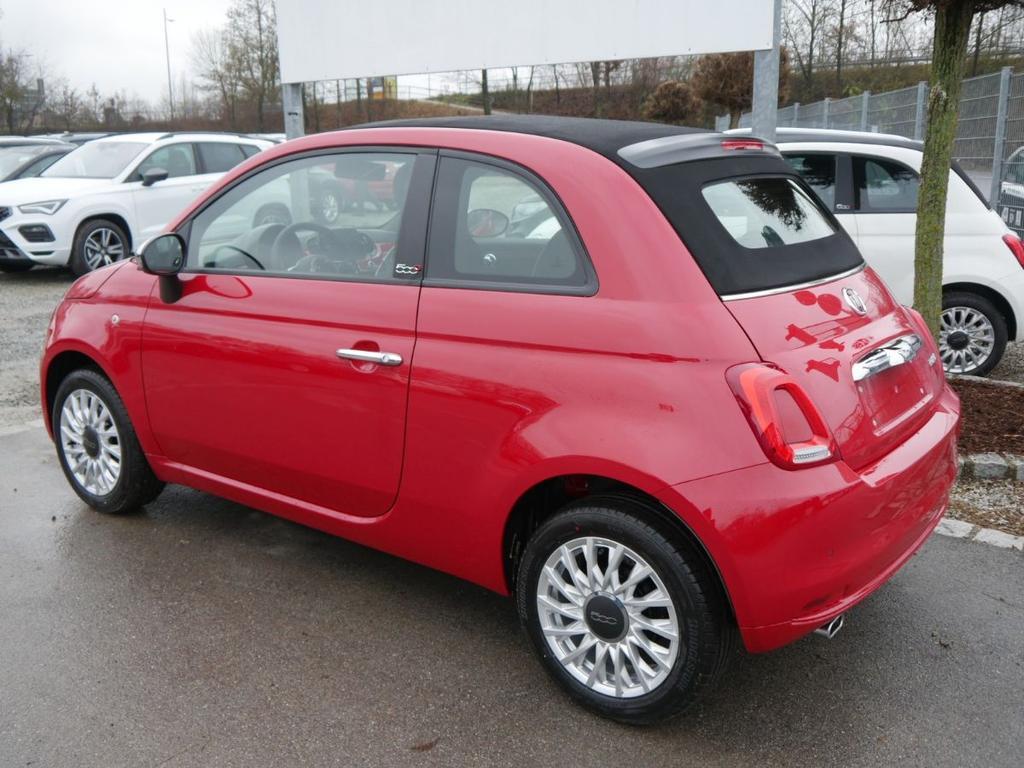 Fiat 500c Hybrid 1 0 Gse N3 Lounge Navi Uconnect Live Parktronic Tempomat Dach Schwarz Lagerfahrzeug Hybrid Benzin Schaltgetriebe 2 Passione Rot