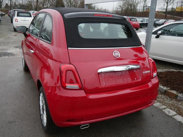 Fiat 500C - Hybrid 1.0 GSE N3 LOUNGE * NAVI UCONNECT- & LIVE PARKTRONIC TEMPOMAT DACH SCHWARZ