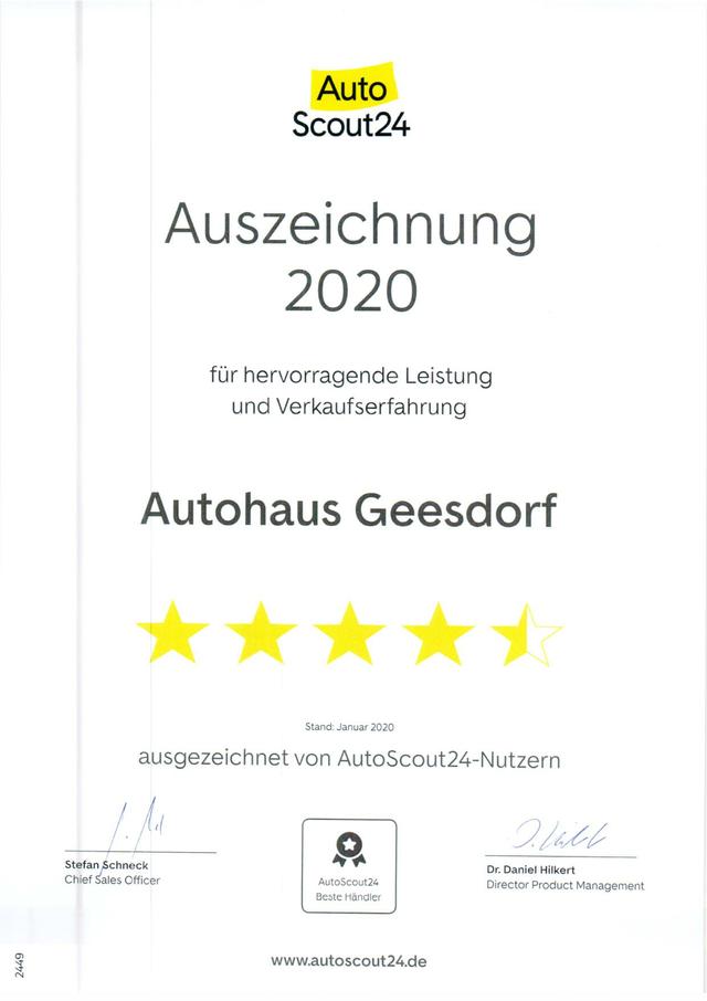 20.6.2020: AutoScout24 Auszeichnung 2020
