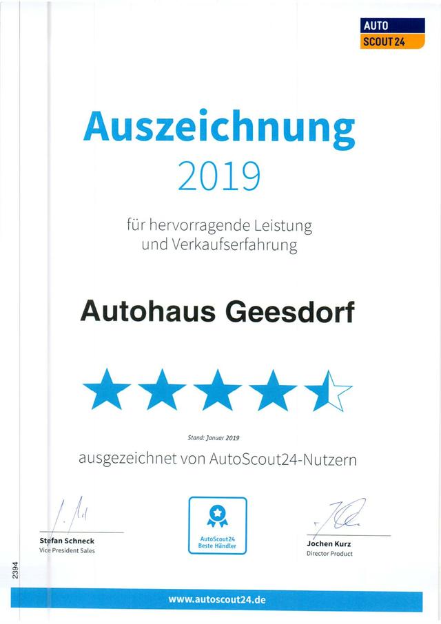 20.06.2020: AutoScout24 Auszeichnung 2019