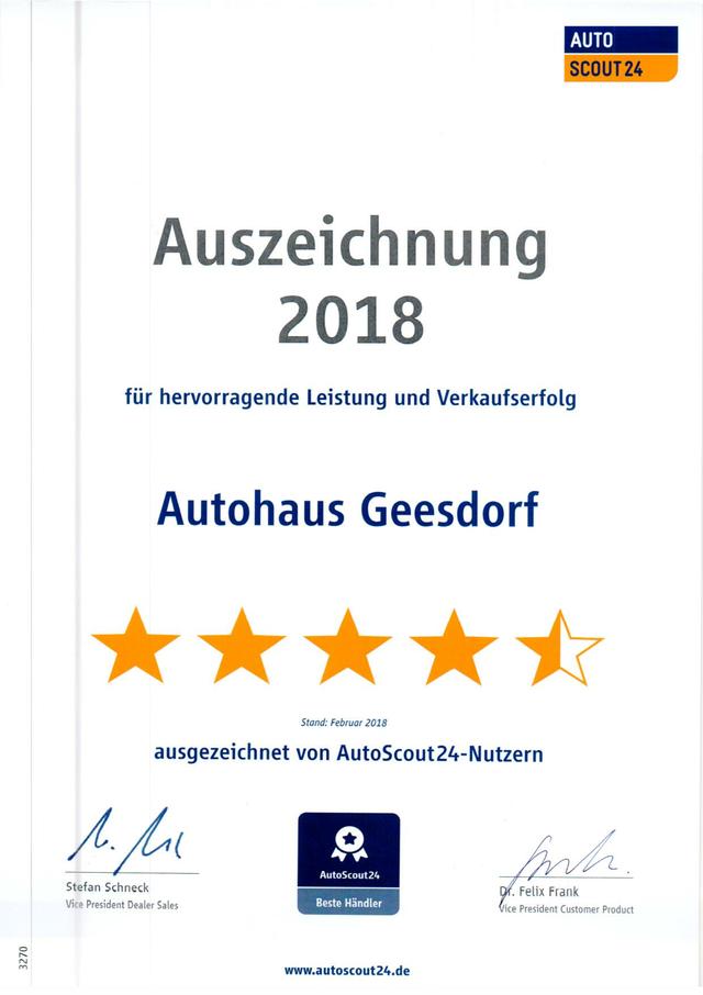 20.06.2020: AutoScout24 Auszeichnung 2018