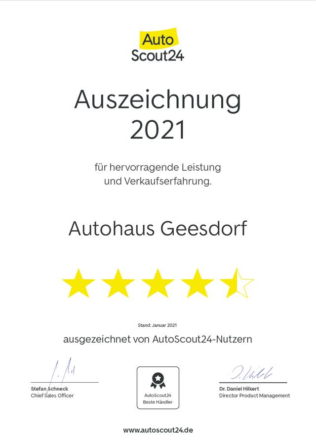 03.03.2021: AutoScout24 Auszeichnung 2021