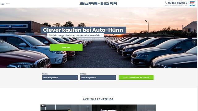 Endkunden- und B2B-Autohandel: Auto Hünn, Wörth