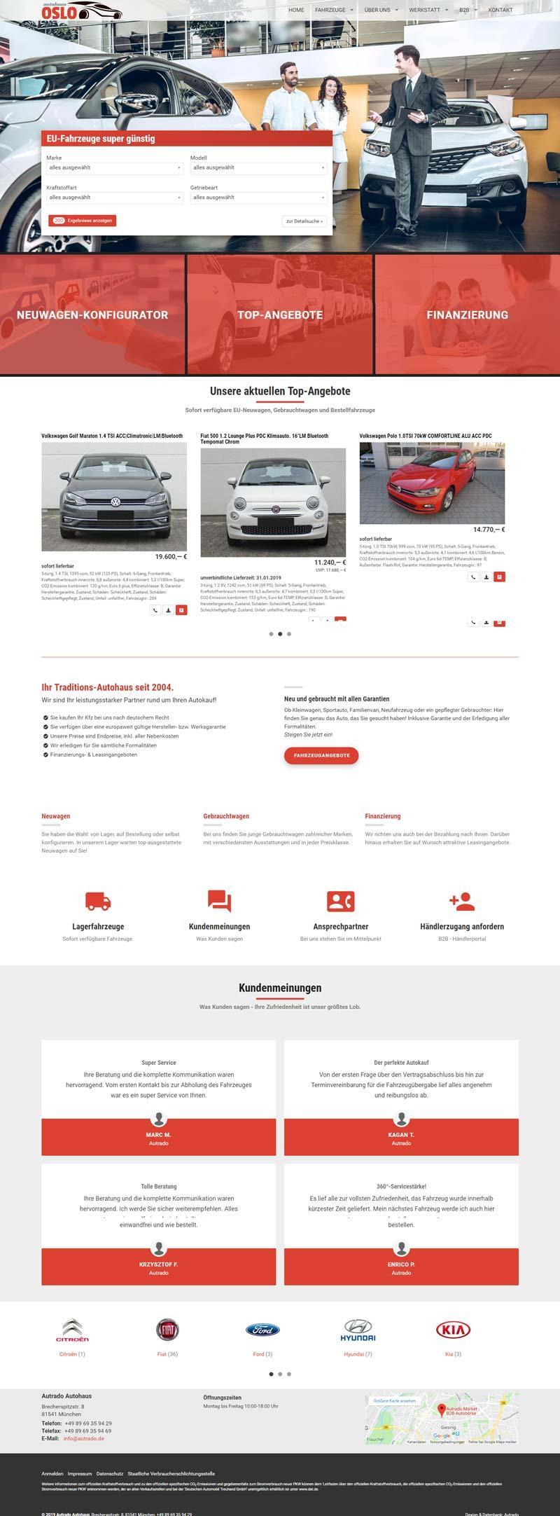 Standard-Designvorlage mit virtuellem Showroom und SEO