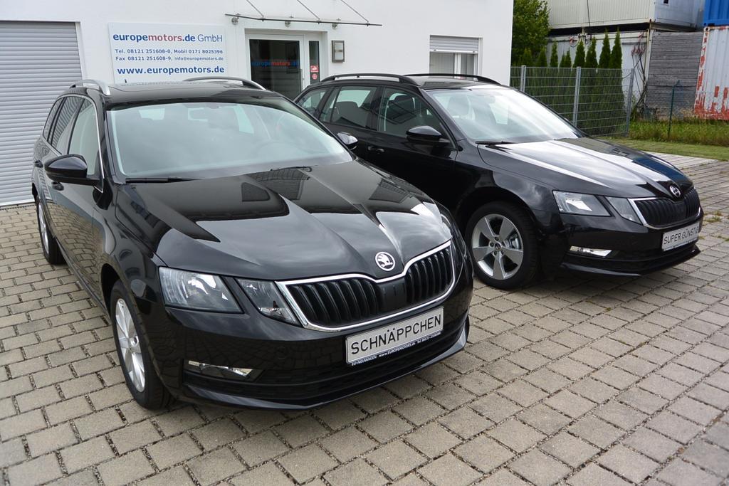 Skoda Octavia Combi Reimport EU Neuwagen Schwarz Metallic - Black-Magic Perleffekt 1Z1Z bei europemotors in Neufinsing bei München günstig kaufen