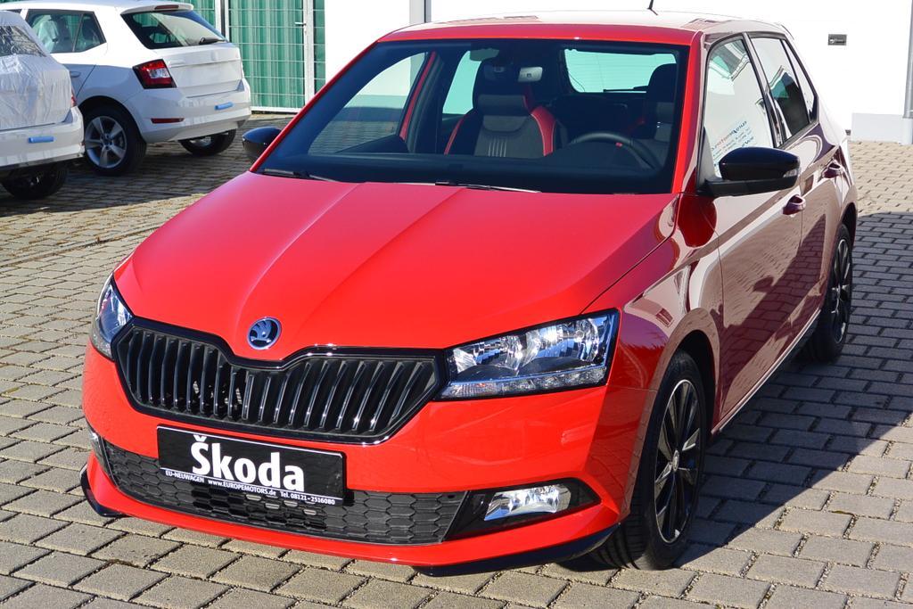 Reimport EU Neuwagen Skoda Fabia Monte Carlo mit Rabatt günstig kaufen od. konfigurieren u. bestellen bei europemotors in der Nähe von München