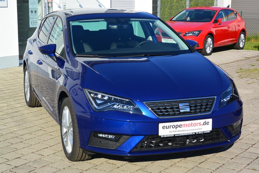 Seat Leon XCELLENCE Reimport EU-Neuwagen mit hohem Rabatt günstig kaufen - sofort verfügbares Lagerfahrzeug - Wo? Bei europemotors in Neufinsing bei München
