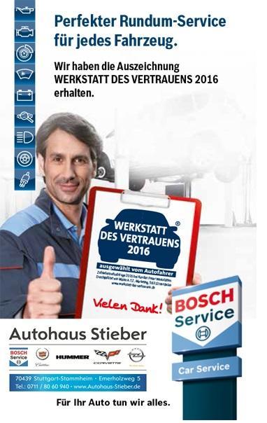 Werkstatt des Vertrauens 2016 - Autohaus Stieber GmbH