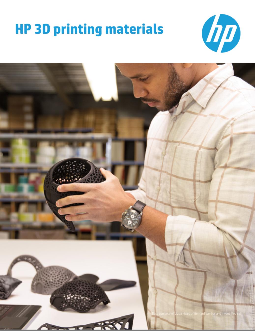 HP Broschüre Open Plattform 3D Printing Materials