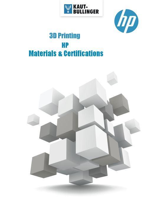 HP Multi Jet Fusion 580 Bücher Booklet HP-Materialie HP-Zertifikaten