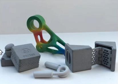 3D-Musterteil 3D-Testpart 3D-Druck 3D-Glätten 3D-Vapor-Smoothing