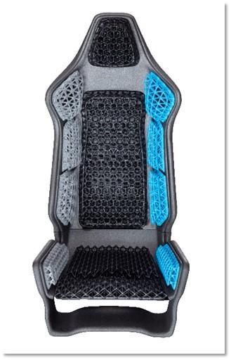 TPU Sitz Autositz HP_Jet_Fusion_4200 3D-Druckteil