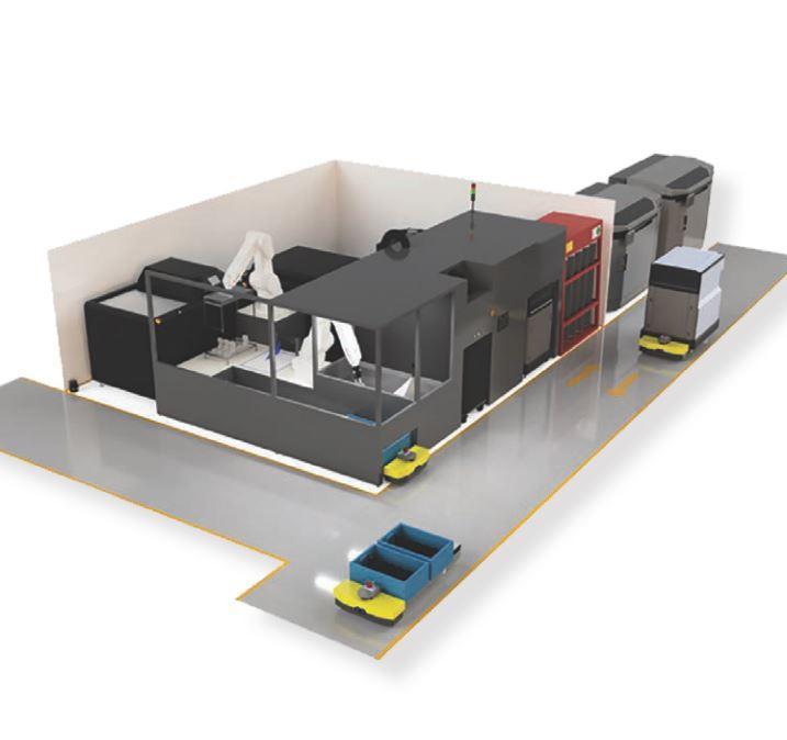 Connected-Manufacturing Autimatisierung 3D-Post-Processing Vapor-Smoothing chemisches-Glätten AMT Postpro