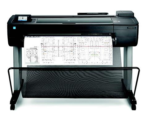 hp gro formatdrucker plotter t serie designjet t730 36. Black Bedroom Furniture Sets. Home Design Ideas