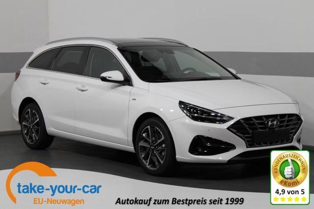 Hyundai i30 Wagon FACELIFT - IMPRESSION PLUS MHEV DCT ACC PANORAMA SHZ LED NAVI Vorlauffahrzeug