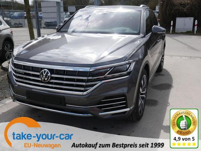 Volkswagen Touareg - 3.0 V6 eHybrid 4M ELEGANCE   FAHRER-& PARKASSISTENZPAKET LEDERPAKET LUFTFEDERUNG 21 ZOLL NACHTSICHTASSISTENT HEAD-UP-DISPLAY Vorlauffahrzeug