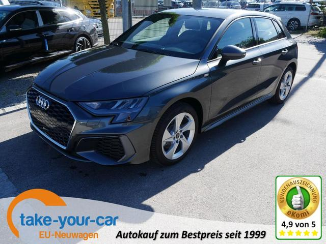Audi A3 Sportback - 35 TFSI CoD S-TRONIC S-LINE   BUSINESS-PAKET LED NAVI PARKTRONIC SITZHEIZUNG Vorlauffahrzeug