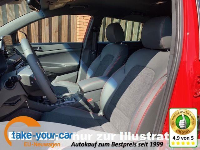 Hyundai Tucson - 1.6 D-136 7AT N-Line LED Leder Navi Alu19 R.Cam Vorlauffahrzeug