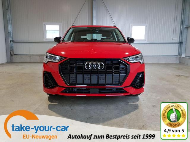 Audi Q3 - S-Line 35 TFSI 150 PS S-Tronic-4JahreGarantie-AndroidAuto-AppleCarPlay-VollLED-SHZ-el.Heckklappe-Sofort Vorlauffahrzeug