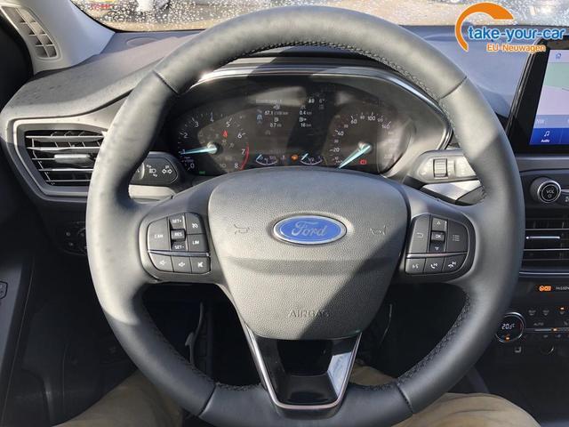 Ford Focus Turnier 1.0 EcoBoost 125PS Titanium Voll-LED Klimaautomatik Sitzheizung Lenkradheizung Ford-Navi SYNC3 DAB+ 8''-Touchscreen mit Bluetooth Apple CarPlay Android Auto Frontscheibe beheizb. PDC v+h