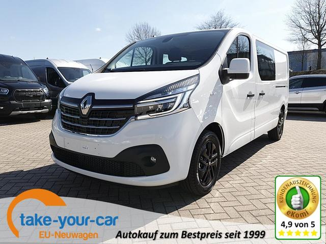 Renault Trafic - Doppelkabine L2H1 2.0 dCi 145PS Komfort  3,0t 5-Sitzer LED-Scheinw. Klimaautomatik AHK Renault-Navi DAB  Bluetooth Apple CarPlay Android Auto PDC Rückf.Kamera 17-LM Vorlauffahrzeug