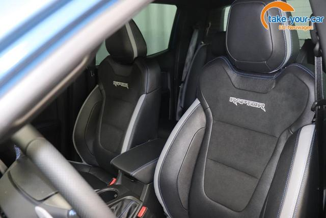 Ranger Raptor Doka 2,0 157 kw TDCI 4x4 ATPerformance BlauSitzbezug Raptor: Sitzmittelbahn: Premium-Wildleder in Ebony Sitzpolster: Soho Grain-Leder in Ebony