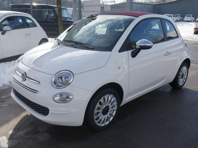 Fiat      500C Hybrid 1.0 GSE N3 LOUNGE * NAVI UCONNECT- & LIVE PARKTRONIC TEMPOMAT DACH ROT