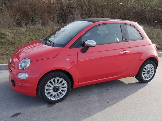 Fiat 500C      Hybrid 1.0 GSE N3 LOUNGE * NAVI UCONNECT- & LIVE PARKTRONIC TEMPOMAT DACH SCHWARZ