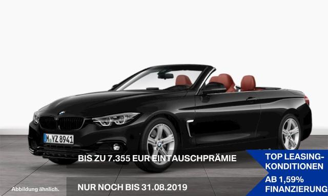 BMW 4er 430d Cabrio Sport Line Head-Up HiFi LED RFK AHK EURO 6