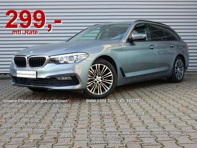 BMW 5er - 520d Tour. Sport Line Navi HiFi ACC AHK WLAN SH