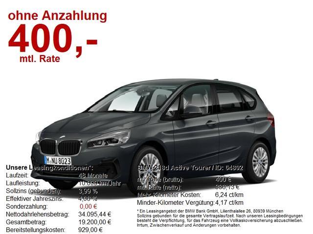BMW 2er Active Tourer 218d SONDERAKTION BIS 30.01.2021