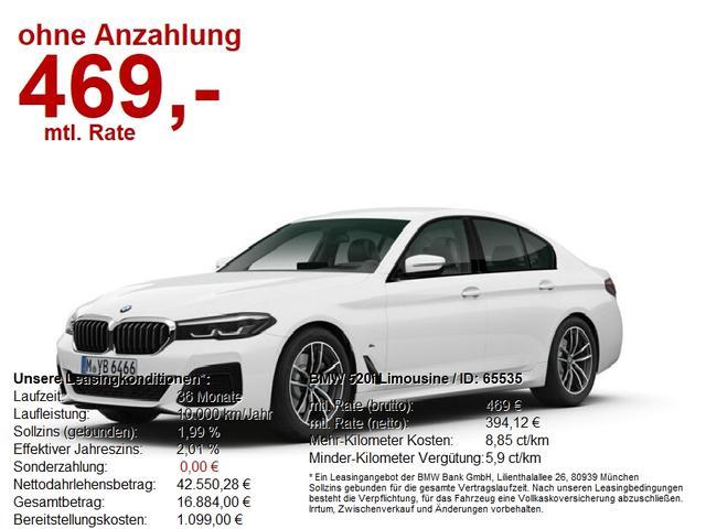 BMW 5er - 520i Limousine SONDERAKTION BIS 30.01.2021