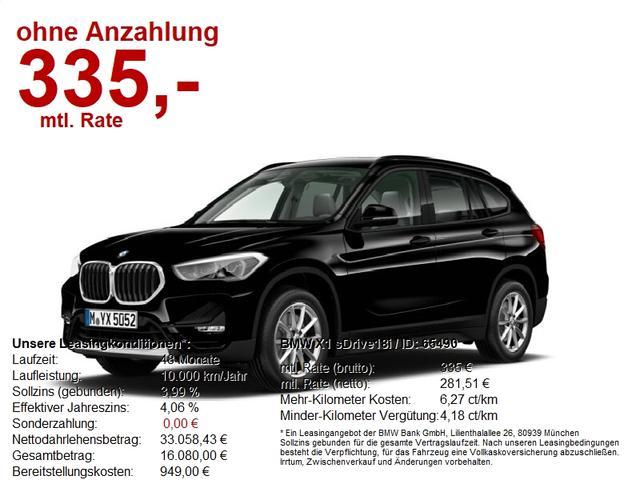 BMW X1 - sDrive18i SONDERAKTION BIS 30.01.2021