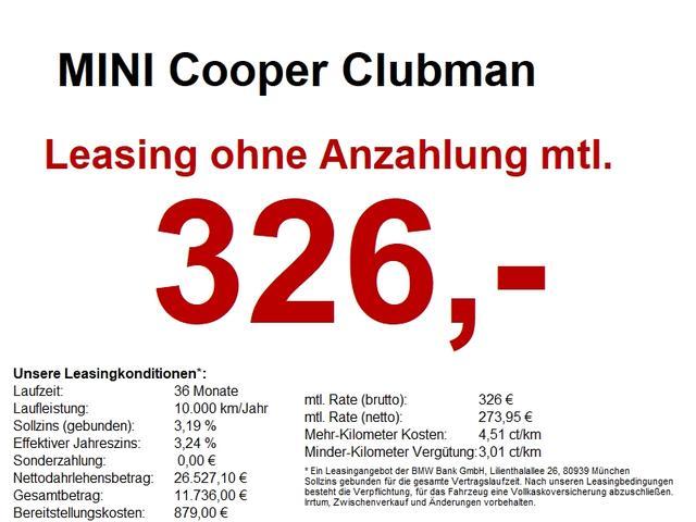 Mini Clubman - Salt. 17. PDC-Hinten. uvm
