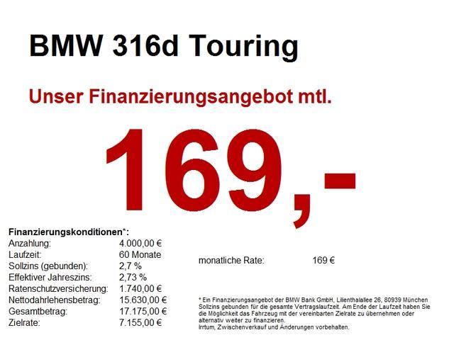 BMW 3er Touring - 316d Komfortzugang.Rückfahrkamera.LED