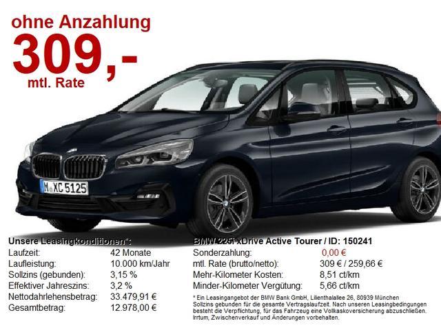 BMW 2er 225i xDrive Active Tourer Sport Line Navi+ AHK