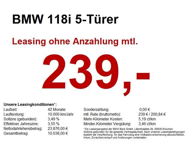 BMW 1er - 118i 5-Türer LED.SH