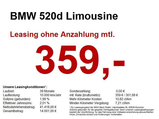 BMW 5er - 520d Limousine NAVI PROF..HEAD UP.AUT.