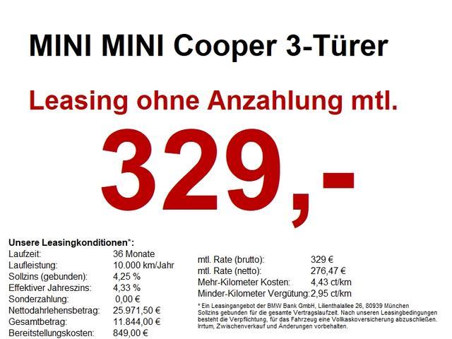 Mini Cooper - 3-Türer Comfort Paket. Classic Trim