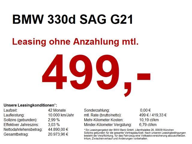 BMW 3er - 330d SAG G21 Sport Line AHK/PANO/CAM/LivePro/DAB