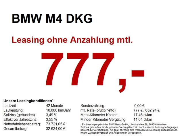 BMW M4 DKG Competition 360CAM/LHZ/HuD/Apple/WLAN/DAB
