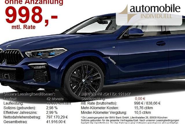 BMW X6 - 40i xDr M Sportpaket AHK Standh ACC Laser DAB