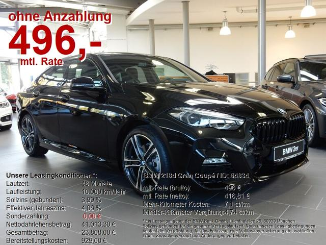 BMW 2er 218d Gran Coupé M Sport SOFORT VERFÜGBAR