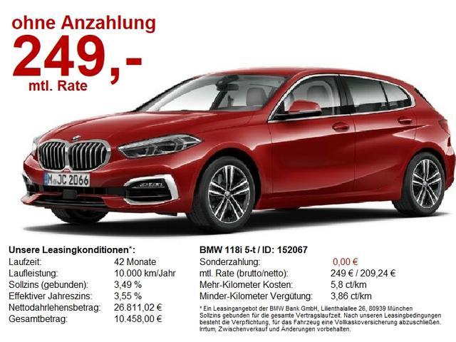 BMW 1er 118i 5-t Luxury Line LED HuD Navi HiFi Parkassis